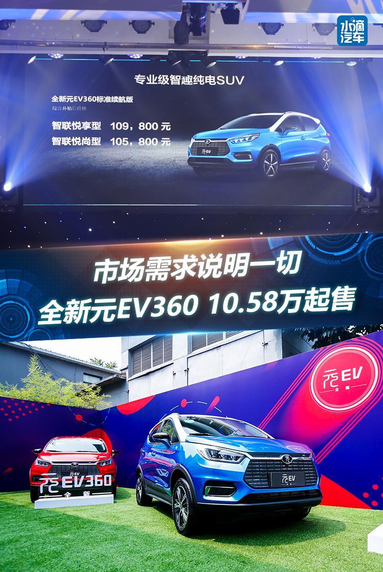 市场需求说明一切,全新元EV360 10.58万起售