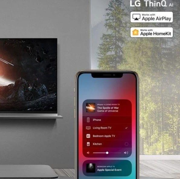 为苹果推生态!LG首先为美国的高端4k电视更新AirPlay2和HomeKit