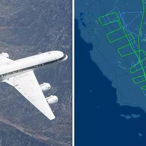 美国加州将发生大地震?NASA飞机异常低飞呈之字形疑监测断层