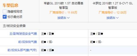 雨天行车安全第一,帝豪GL和卡罗拉安全系统差距太明显!