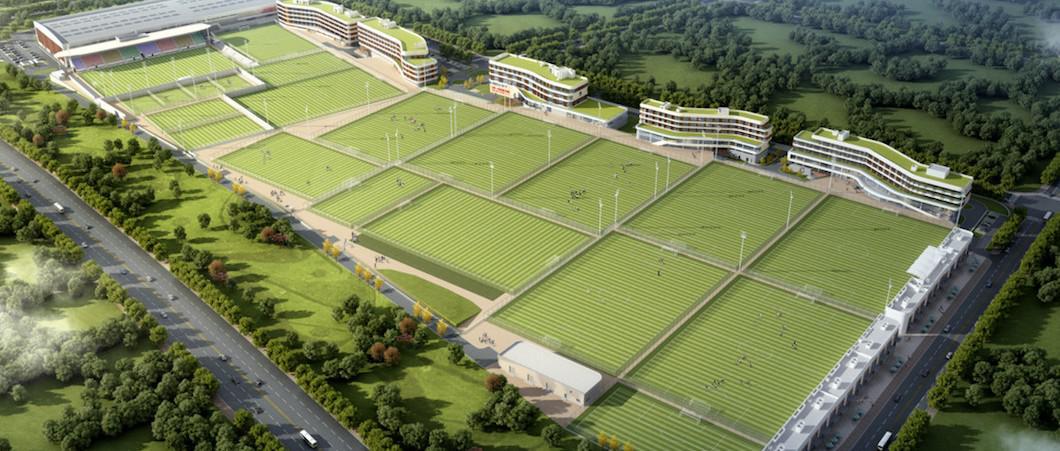 拿下万达大连足球青训基地项目!朝向集团再造足球场地建造新标杆