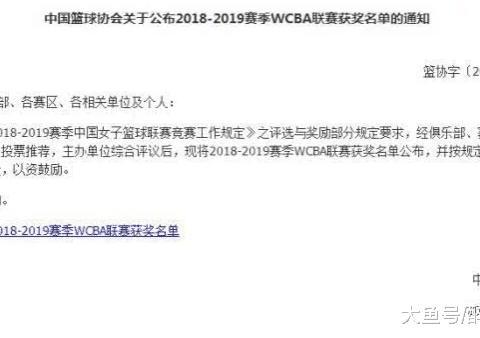 太荒诞!WCBA结束4个多月篮协才公布奖项办事不专业给姚明敲警钟