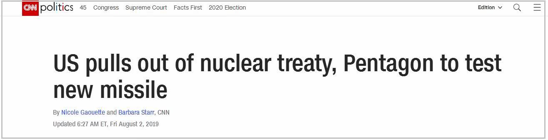 退出中导条约后 美宣布全面研发陆基常规中程导弹_淘网赚
