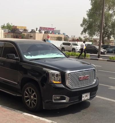 10米长的GMC房车现迪拜,排量8.0L,国内保有量为0,C1证开不了