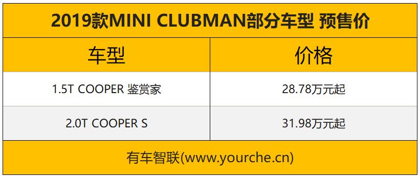 换装全新米字旗样式尾灯 新款MINI CLUBMAN售28.78万起