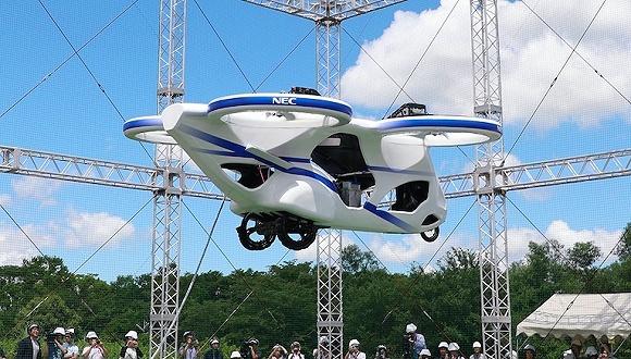 日本展示了一辆电动飞行汽车,制造商却不是车企