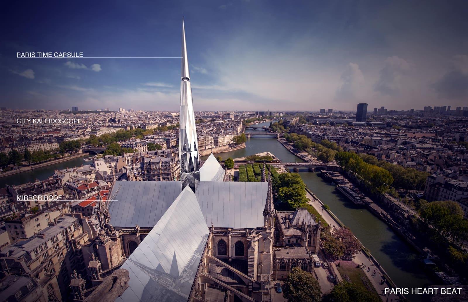 <b>巴黎圣母院屋顶设计大赛:中国建筑师方案获冠军|设计大赛</b>