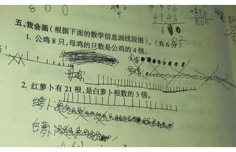 """小学生数学试卷现""""神题"""",全班60多人全做错,老师急红了眼"""