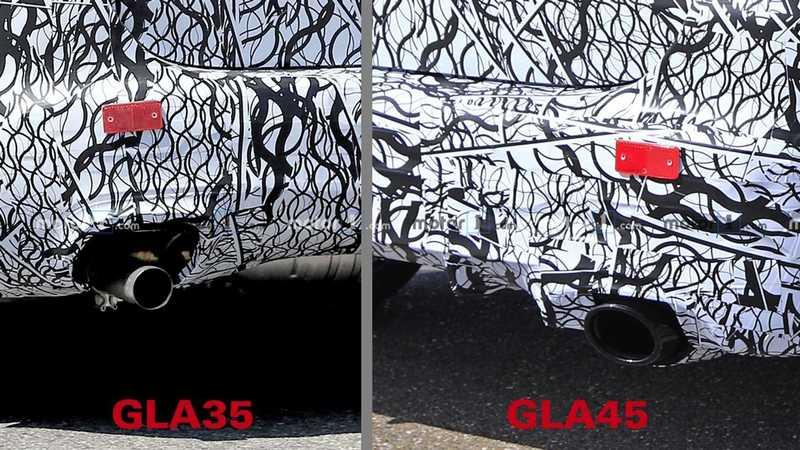 带漂移模式四驱系统 2021款奔驰GLA 35和GLA 45测试谍照曝光