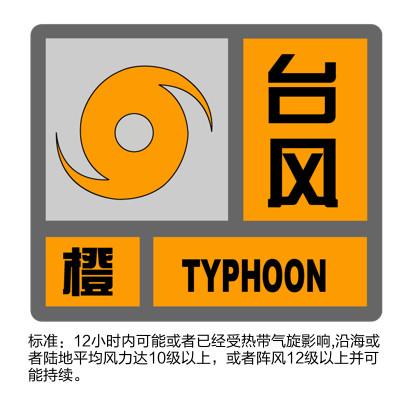 橙色预警 上海未来24小时内最大阵风可达11