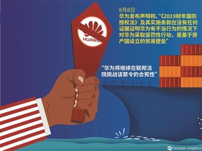 华为:将继续挑战美禁令合宪性