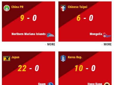 9-0!中国U15女足吊打鱼腩队,日本踢出22-0,韩国10-0中国香港