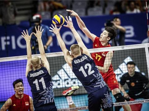 江川砍25分中国男排力克芬兰队 取东京奥运会资格赛开门红