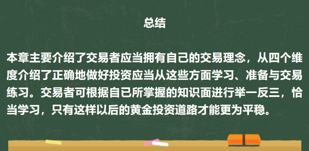 課後習題:請寫出你的交易理念中最重要的2點,並簡述你的理解。
