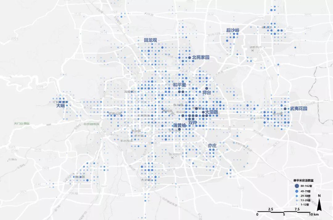 北京租房图鉴:五环外房价才开始大幅度下降