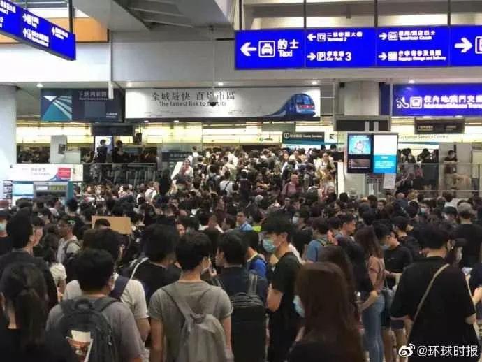香港机场取消航班影响6200人 机管局已启动机场紧急事故应变中心