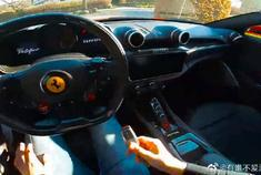 视频:法拉利Portofino云试驾体验,近600匹的跑车太强悍了。