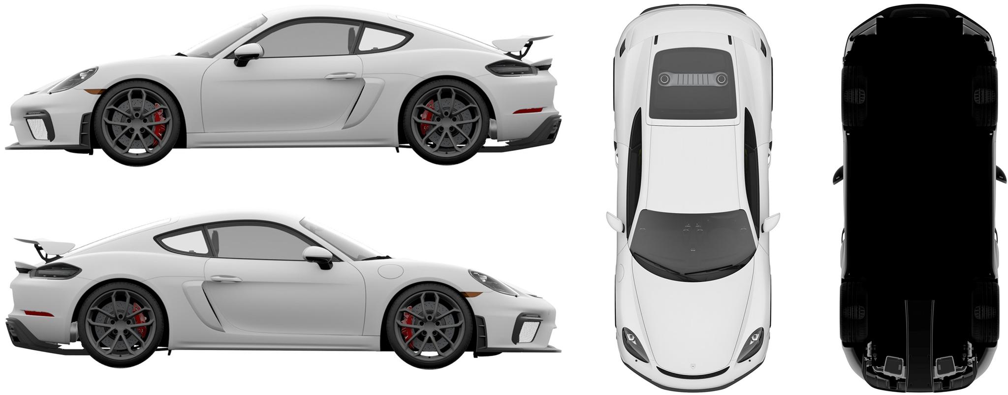 保时捷718 Cayman GT4国内外观专利图曝光,最大马力提升至420匹