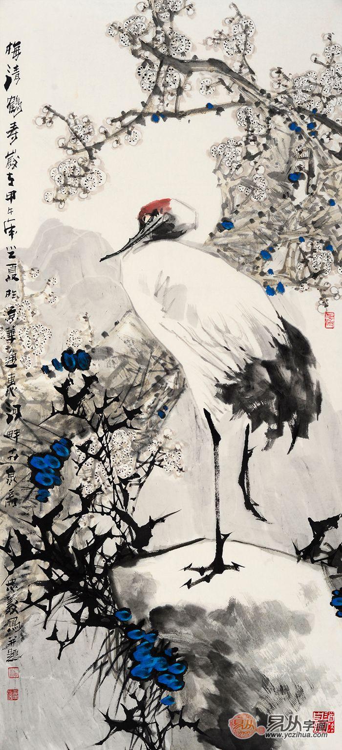 日本风手绘仙鹤