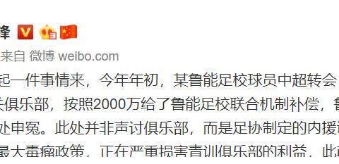记者:内援转会费远超两千万,足协调节费是毒瘤
