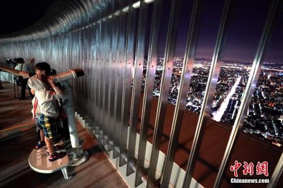 資料圖:臺北101大樓觀景臺。中新社記者 張宇 攝