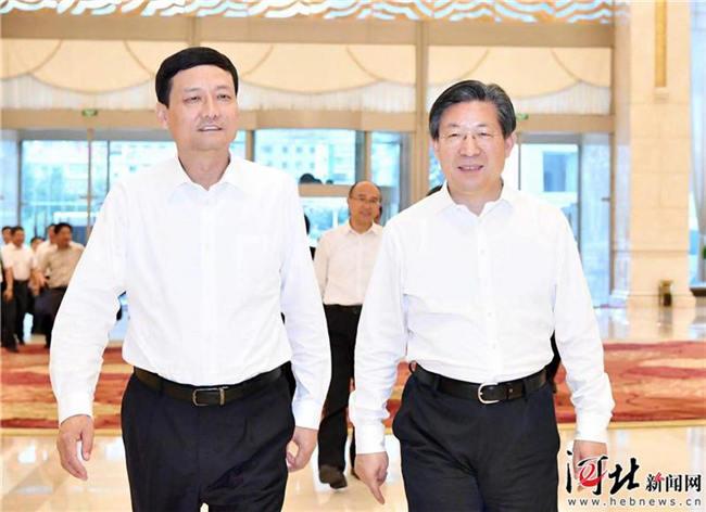 王东峰与国家市场监督管理总局局长肖亚庆举行工作座谈