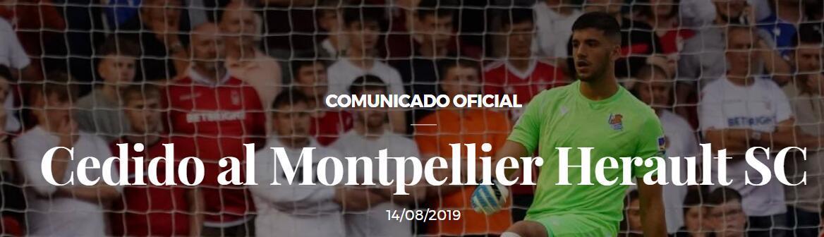 官方:阿根廷国门鲁利租借加盟蒙彼利埃