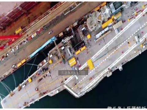 中国首艘国产航母发布高清近照!舰体施工完毕,服役为期不远