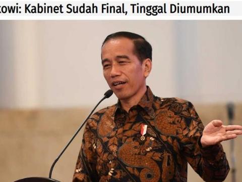 """印尼新内阁名单很""""亮眼"""";据称普拉博沃也想分肉吃"""