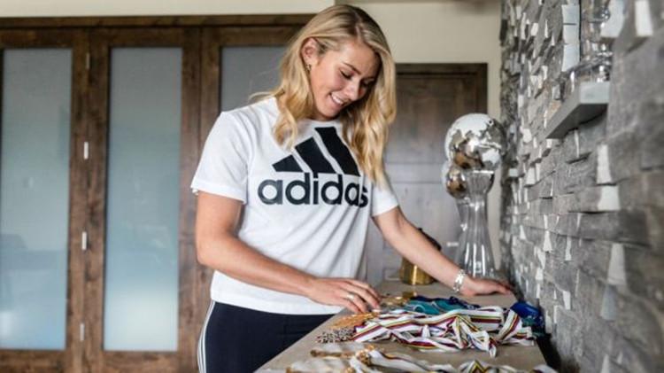 美国高山滑雪女王代言阿迪达斯,商业代言遍布全球
