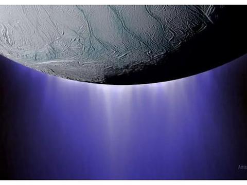 在土星,土卫二之间移动的等离子体波声音