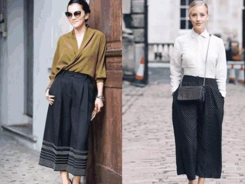 遮肉显瘦的阔腿裤,尽量避开这3种穿法,一点时尚感都没有!