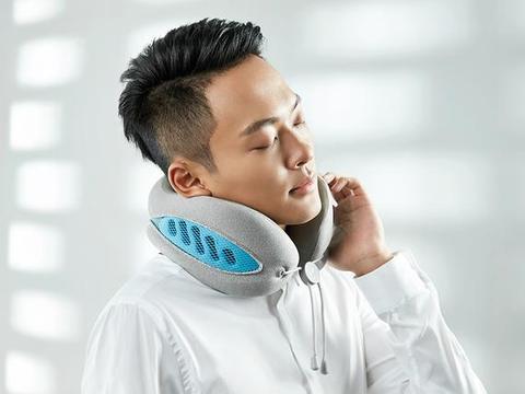远离颈椎病,便携透气可水洗,乐范双色颈枕助你健康工作