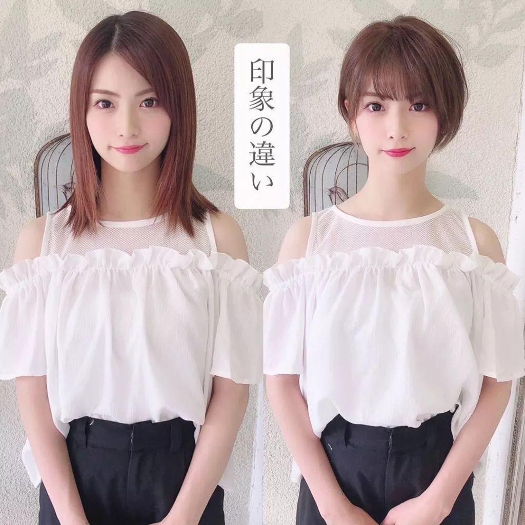 15位日本妹子剪发前后对比,告诉你什么叫换发型堪比换头!