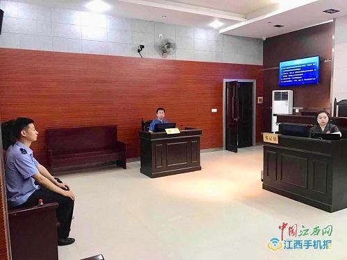 鹰潭铁路警方组织民警旁听法院庭审(图)