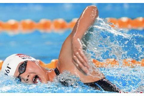 王简嘉禾夺800米自由泳决赛冠军 获二青会个人第二金