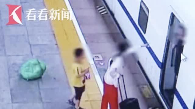 视频:儿子身高超标被要求补票 女子站台上掌掴乘务员被拘3日