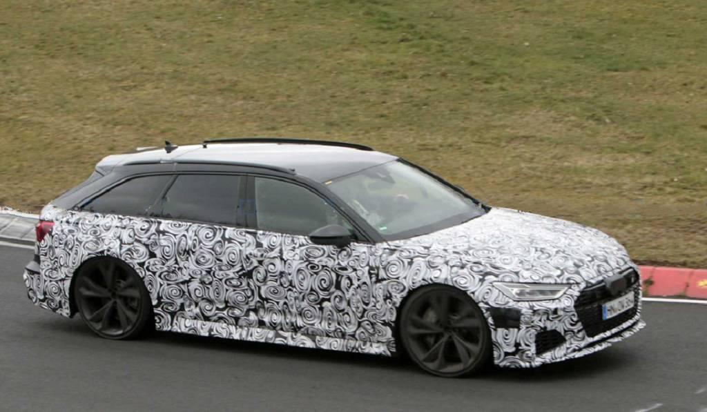 全新奥迪RS 6 Avant预告图发布,将于9月10日法兰克福车展亮相