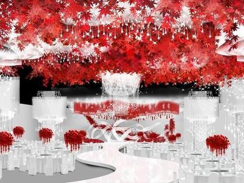 DODOWED婚礼手绘推荐系列之飓风婚礼手绘冰与火之歌婚礼堂设计