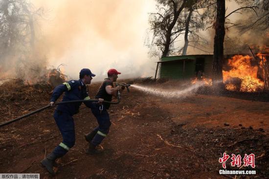 希臘埃維亞島野火肆虐第4天:山谷內已無明顯火線