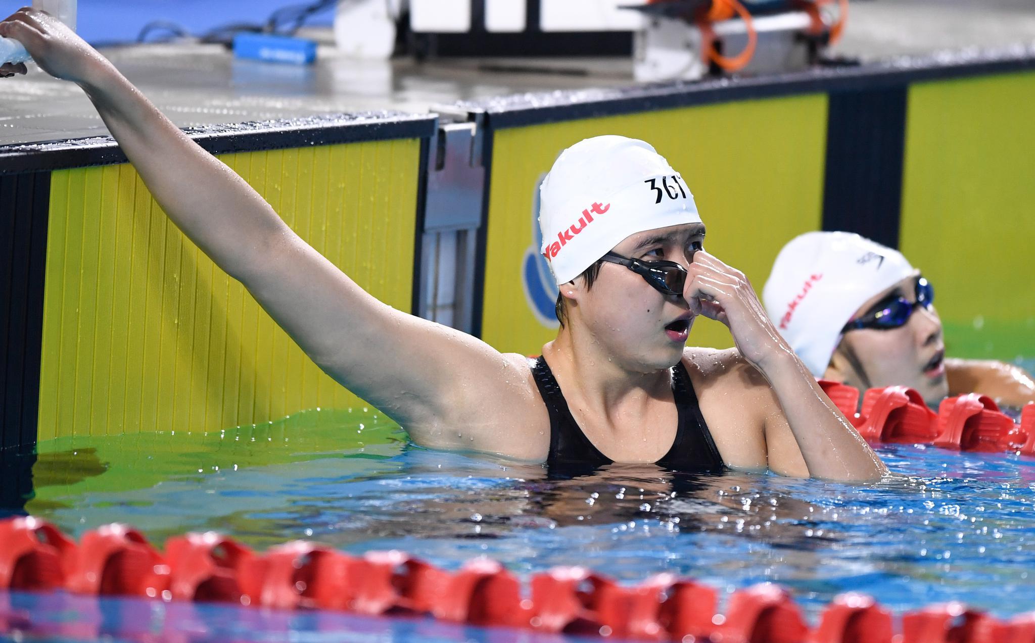 二青会游泳:王简嘉禾200米自由泳摘铜  李冰洁获第三块银牌