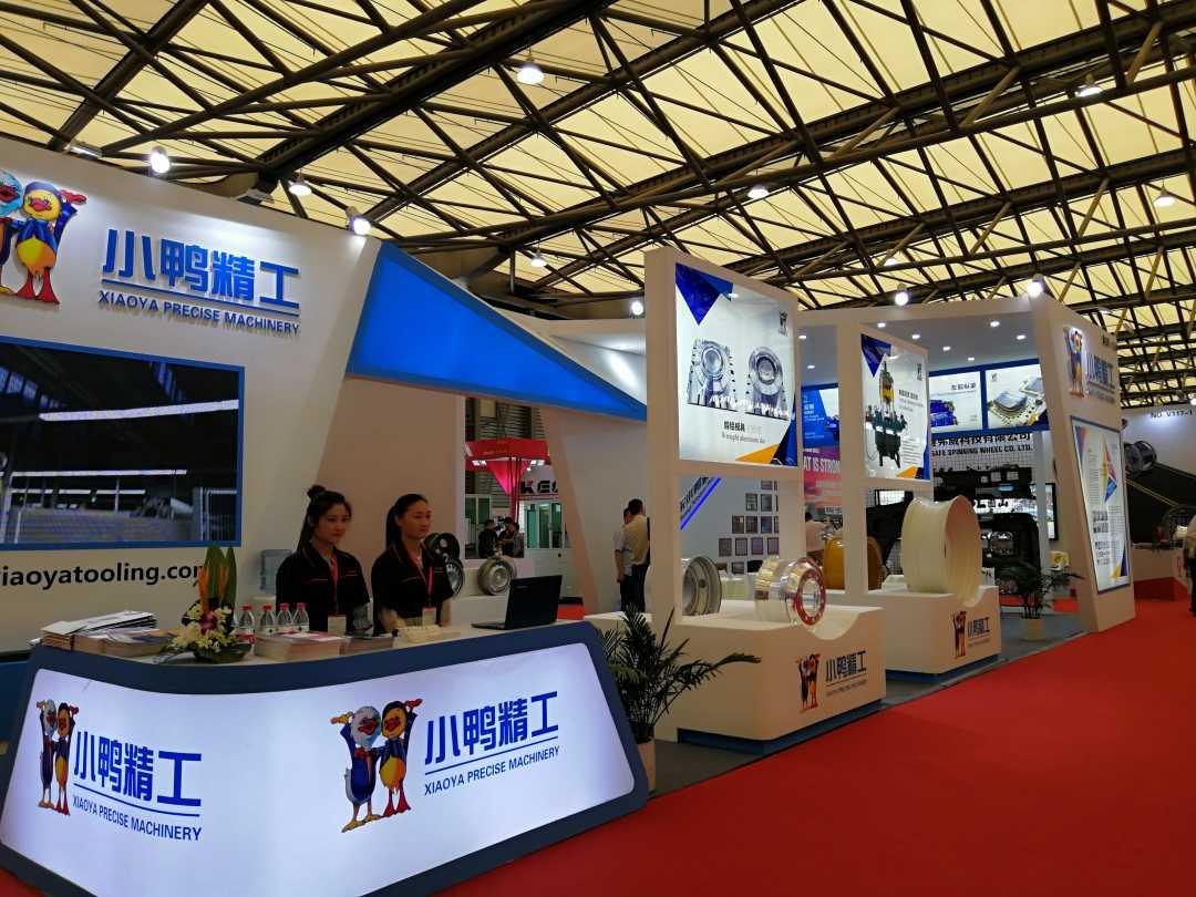 小鸭精工车轮装备产品在上海国际车轮展大放异彩