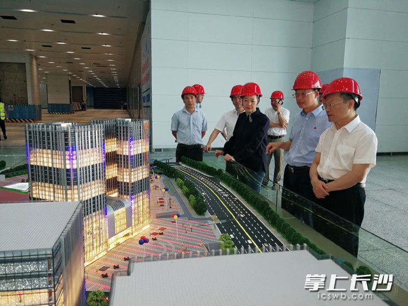 胡忠雄调研长沙汽车南站综合交通枢纽和红星片区城市更新项目
