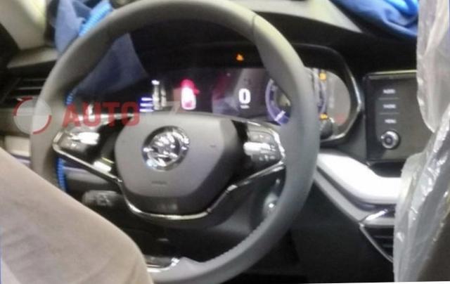 全液晶仪表盘+悬浮中控屏,新明锐内饰曝光