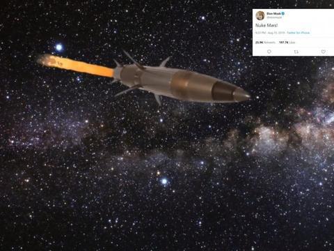 """埃隆·马斯克想要""""核爆火星"""",科学家反驳:他的想法站不住脚"""