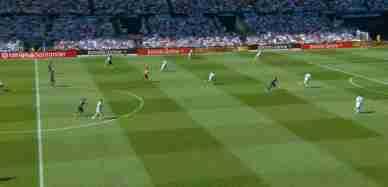 皇马3-1塞尔塔 贝尔助攻本泽马破门克罗斯世界波莫德里奇红牌