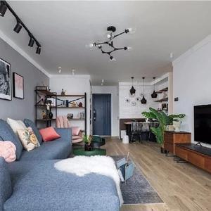 二居室的房子多大面积好?12万元的北欧风格设计说明!-保利叶上海装修