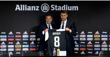 拉姆塞谈尤文首秀:很兴奋成为意大利足球的一部分