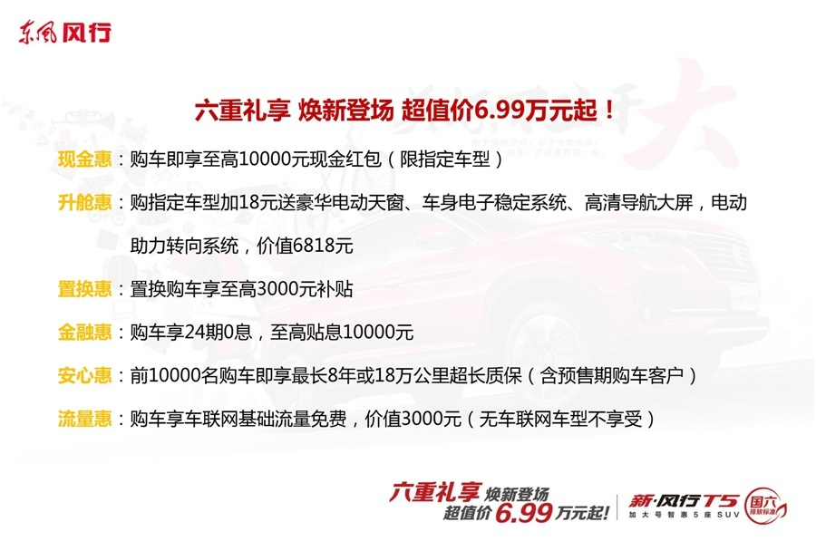 空间比同级SUV大20mm,新风行T5/T5L上市,售价6.99-12.99万