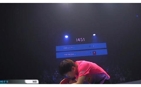 23分48秒压哨绝杀,孙颖莎4-0陈思羽,T2联赛首场常规时间获胜